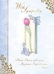 With Sympathy - Front of card - League of Saint Anthony