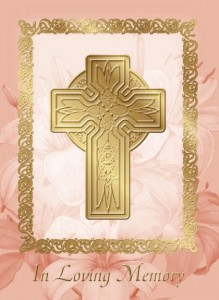 In Loving Memory (ME) - front of card - League of Saint Anthony Memorial Mass Certificate