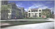Saint Joseph Hall Renderings - Building from East - Groundbreaking March 6, 2015